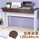 Yostyle 歐比120x40工作桌-加厚桌面(附二抽屜)