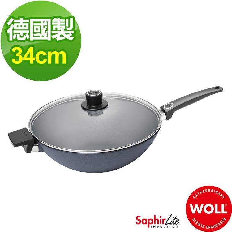 德國 WOLL Saphir Lite藍寶石輕巧系列 34cm中華深炒鍋(含鍋蓋)