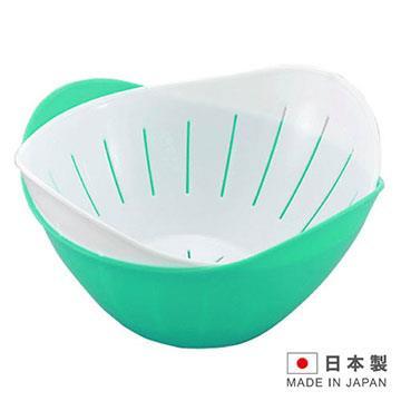 HANAGATA 花型瀝水置物籃組840ml( 顏色隨機出貨) D5337