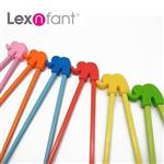 Lexnfant大象學習筷-橘色
