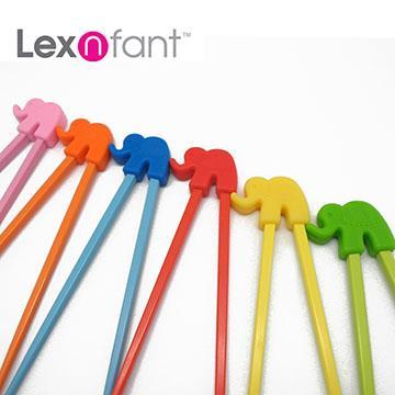 Lexnfant大象學習筷-藍色