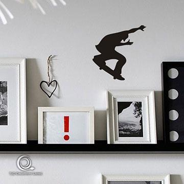 Christine趣味開關貼/牆貼/居家佈置小物 滑板小子OP024