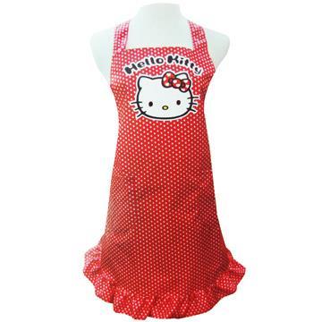 KITTY/下午茶/KITTY格子圍裙-3入