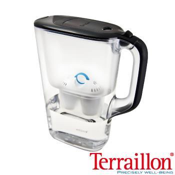 【Terraillon】朵蜜諾濾水壺2.2L濾水壺-黑色(附濾芯X1)