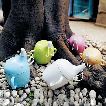 【Cornflower玉米花】快樂森林玉米餐具-小象學習杯-5入 -嬌嫩粉