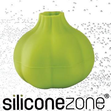 【Siliconezone】施理康不沾手便利矽膠蒜頭剝皮器-綠