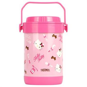 THERMOS膳魔師 Hello Kitty不鏽鋼真空燜燒鍋1.5L(RPF-20-PK)