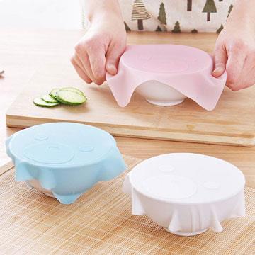 環保重複使用矽膠保鮮膜蓋(隨機出貨)