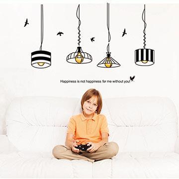 時尚壁貼 - 簡約吊燈