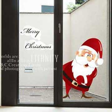 Christine耶誕節慶佈置/壁貼 玻璃貼/MB015 我愛聖誕節(小)