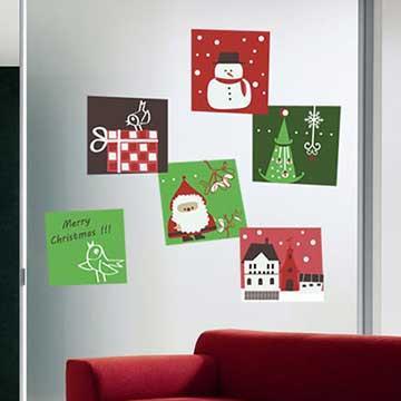 Christine聖誕節慶佈置/壁貼 玻璃貼/MB026 時尚耶誕(小)