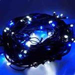 100燈LED燈串聖誕燈 (藍白光黑線)(附控制器跳機)(高亮度又省電)
