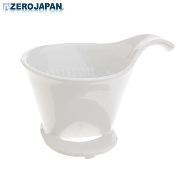【ZERO JAPAN】典藏陶瓷咖啡漏斗(大)(白)