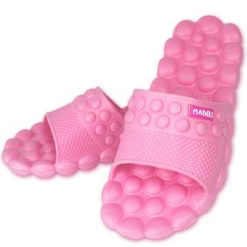 減壓豆豆健康按摩拖鞋-粉紅