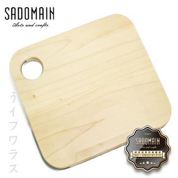 【SADOMAIN】楓木薄砧板-正方-2入組