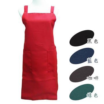 素面二口袋圍裙-4件組