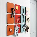 韓國時尚正方形圓形六角形毛氈裝飾牆貼/留言板(顏色款式隨機出貨)