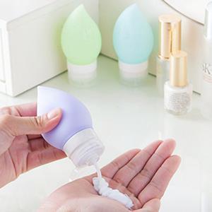 甜蜜小桃子旅行專用乳液分裝矽膠按壓瓶(顏色款式隨機出貨)