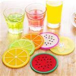 Juicy Fruit水果切片果凍色圓形矽膠防滑隔熱杯墊(顏色款式隨機出貨)