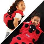 【CABEAU】兒童毛毯後背包 - 瓢蟲