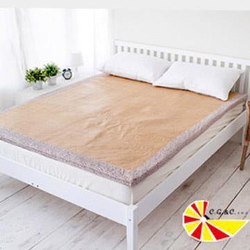 【凱蕾絲帝】濃濃卡布冬夏兩用紙纖高支撐記憶聚合床墊-單人3尺