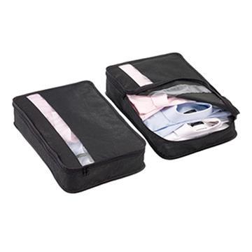 【Go Travel】衣物收納袋兩件組 -黑