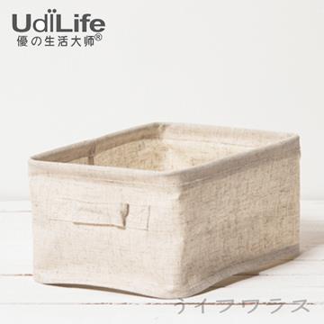 【UdiLife】森/棉麻收納盒/小-3入組