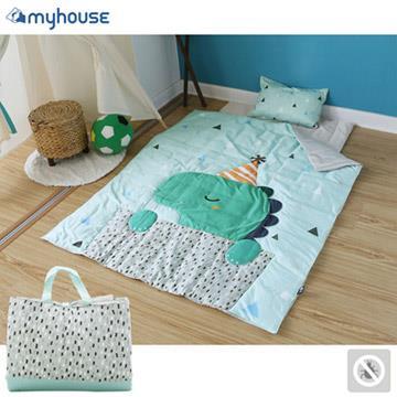 【 Babytiger虎兒寶 】myhouse 韓國防蟎抗敏派對動物兒童睡袋 - 恐龍瑞奇