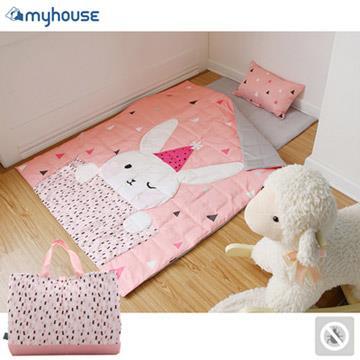【 Babytiger虎兒寶 】myhouse 韓國防蟎抗敏派對動物兒童睡袋 - 兔子梅莉莎