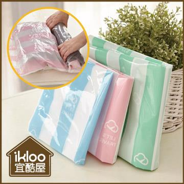 【ikloo】手捲式真空壓縮收納袋6入組(S/M/L)