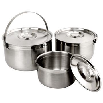 MoLiFun魔力坊 台灣製316不鏽鋼內鍋/調理鍋/三件式提鍋(16+19+22CM)~適用電磁爐