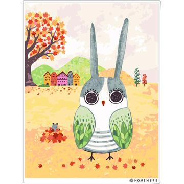 [HOMEHERE] DIY數字油畫 X 插畫家尼果 -兔子貓頭鷹