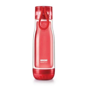 ZOKU繽紛玻璃雙層隨身瓶(475ml) - 紅色