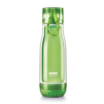 ZOKU繽紛玻璃雙層隨身瓶(475ml) - 綠色