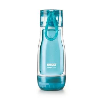 ZOKU繽紛玻璃雙層隨身瓶(355ml) - 淺藍色
