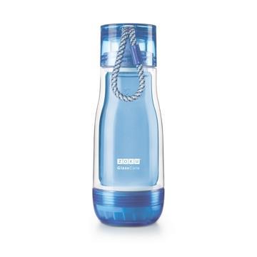 ZOKU繽紛玻璃雙層隨身瓶(355ml) - 藍色