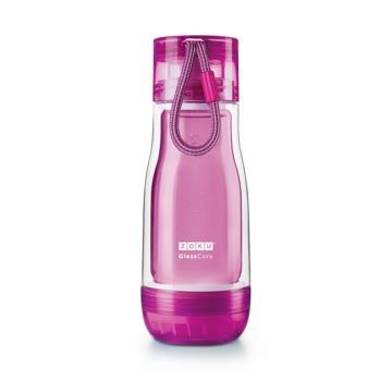 ZOKU繽紛玻璃雙層隨身瓶(355ml) - 紫色
