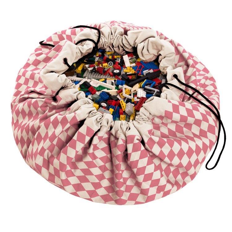 play&go玩具整理袋 - 菱格粉