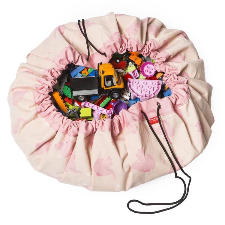 play&go玩具整理袋 - 藝術家聯名款 - 粉紅大象