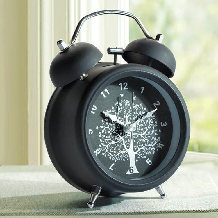數字靜音懶人鬧鐘,4吋復古許願樹金屬擺飾,臥室夜燈