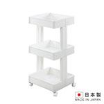 日本製造 3層置物附輪櫃(寬版) SAN-F2590