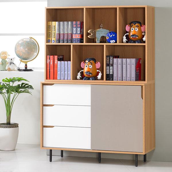 Yostyle 莫拉4尺收納書櫃