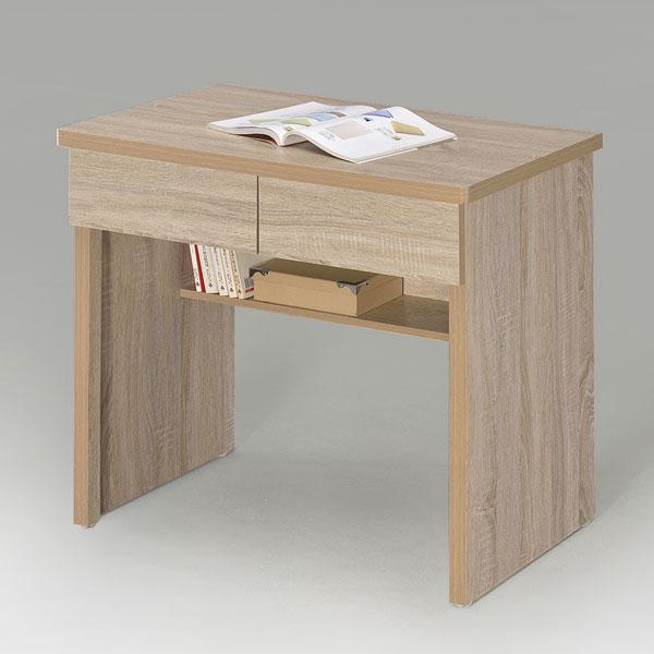 Yostyle 簡約二抽書桌-橡木色