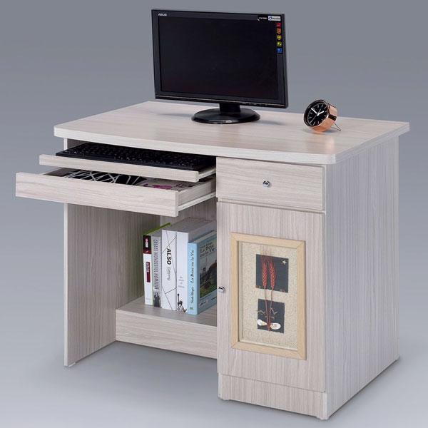 Yostyle 自然風味電腦桌-白雪松