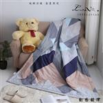 【Luna Vita】春夏100%精梳棉 透氣鋪棉涼被-動感韻律