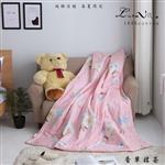 【Luna Vita】春夏100%精梳棉 透氣鋪棉涼被-香草抹茶