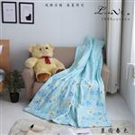【Luna Vita】春夏100%精梳棉 透氣鋪棉涼被-萊茵春色