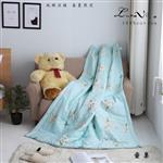 【Luna Vita】春夏100%精梳棉 透氣鋪棉涼被-愛巢