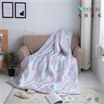 【Luna Vita】春夏100%頂級 緞紋天絲TENCEL 鋪棉涼被-妙戀(灰)