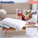 【Luna Vita × Dunlopillo】英國品牌 鄧錄普 100%天然乳膠枕-平面式